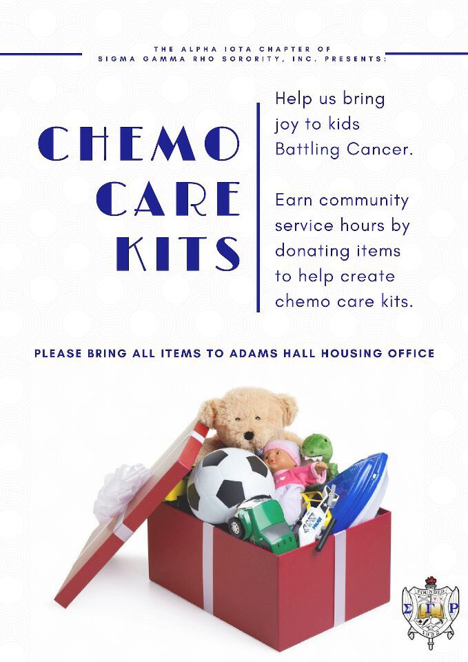Undergoing Chemotherapy can be a scary time for most children. Help the Poodles bringing ease to this process by donating items to build Chemo Care Kits. #SSU20 #SSU19 #SSU21 #SSU22