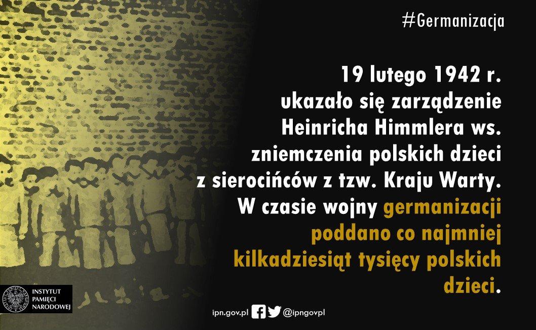 ‼Dzieci poddane #germanizacja musiały spełniać wymogi rasowe.  Urzędnicy #IIIRzesza zmieniali im imiona, nazwiska, datę urodzenia. Po #IIWŚ tylko część dzieci wróciła do swoich polskich rodzin... #NiemieckaOkupacja #StratyWojenne #Himmler #NiemieckieZbrodnie #ReparacjeDlaPolski