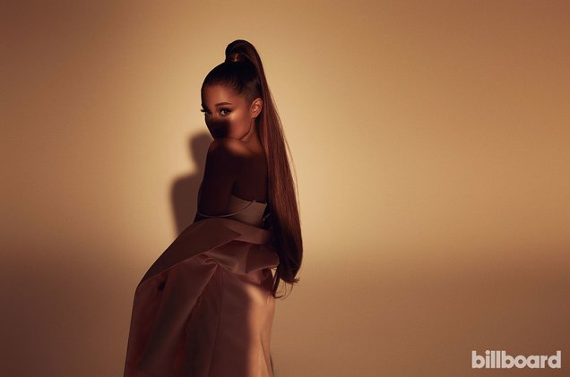 Congrats, @ArianaGrande! She claims Nos. 1, 2 & 3 on the Billboard #Hot100, becoming the first act to achieve the feat since The Beatles in 1964 🌟  https://t.co/uet0oAqS6K