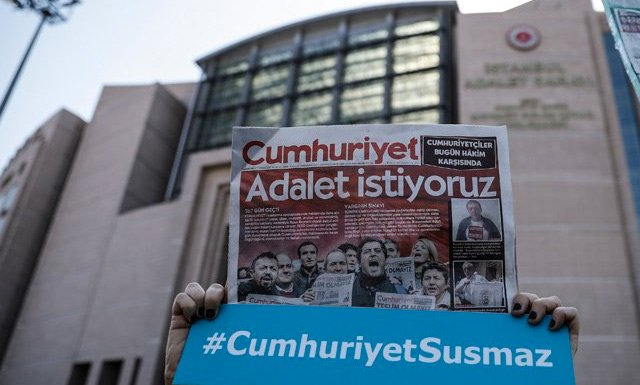 Appellate court upholds convictions in Cumhuriyet trial bit.ly/P24ing19sbt2