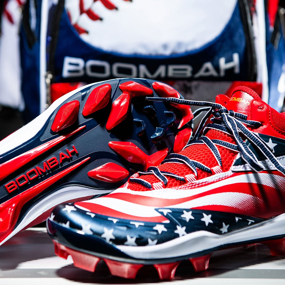bd8c753afd9 Available in low and mid turfs   molded cleats. Grab yours now!  https   bit.ly 2BajlYH  Boombah  USA  RedWhiteAndBlue  StarsAndStripes  Flag   America ...