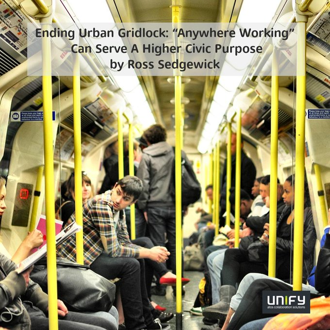 """🆕 Blogpost: Ending Urban Gridlock: """"Anywhere Working"""" Can Serve A Higher Civic..."""