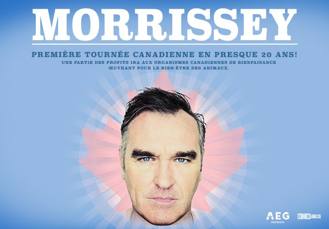 JUST ANNOUNCED: It's been far too long, Montréal. @officialmoz is touring Canada for the first time in almost two decades. Tickets for April 29 at @mtelusmontreal are on sale Friday at 10AM.
