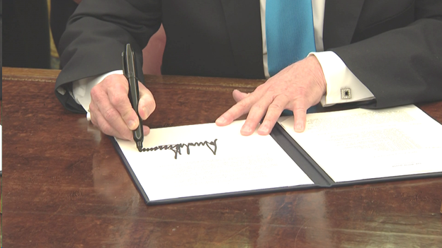 ** Pres signs Space Directive 4, outlining policy framework for establishing the US Space Forc@VPe,  said it will help US to be as dominant a power in space as it is on Earth. Acting DefSec Shanahan says the order will help deliver US capability in space better, sooner and faster.