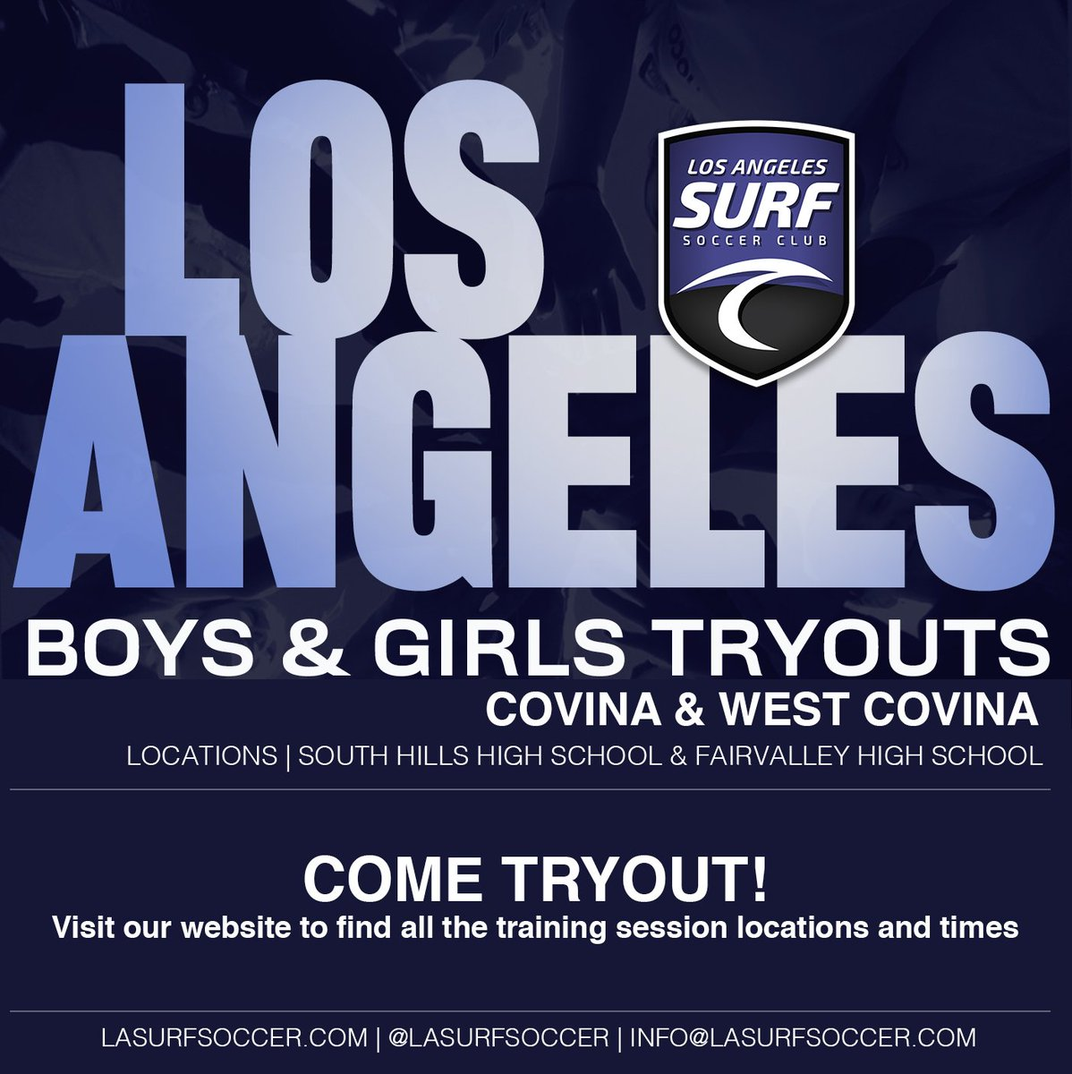 LA SURF   TRYOUTS  Come join our training sessions tonight!  Visit our website for all times and locations. http://Lasurfsoccer.com/tryouts  Follow us on social media @lasurfsoccer for the latest updates  #Lasurf #tryouts #lasurfsoccer #sanmarino #sgvsurf #pasadena #covina #westcovina