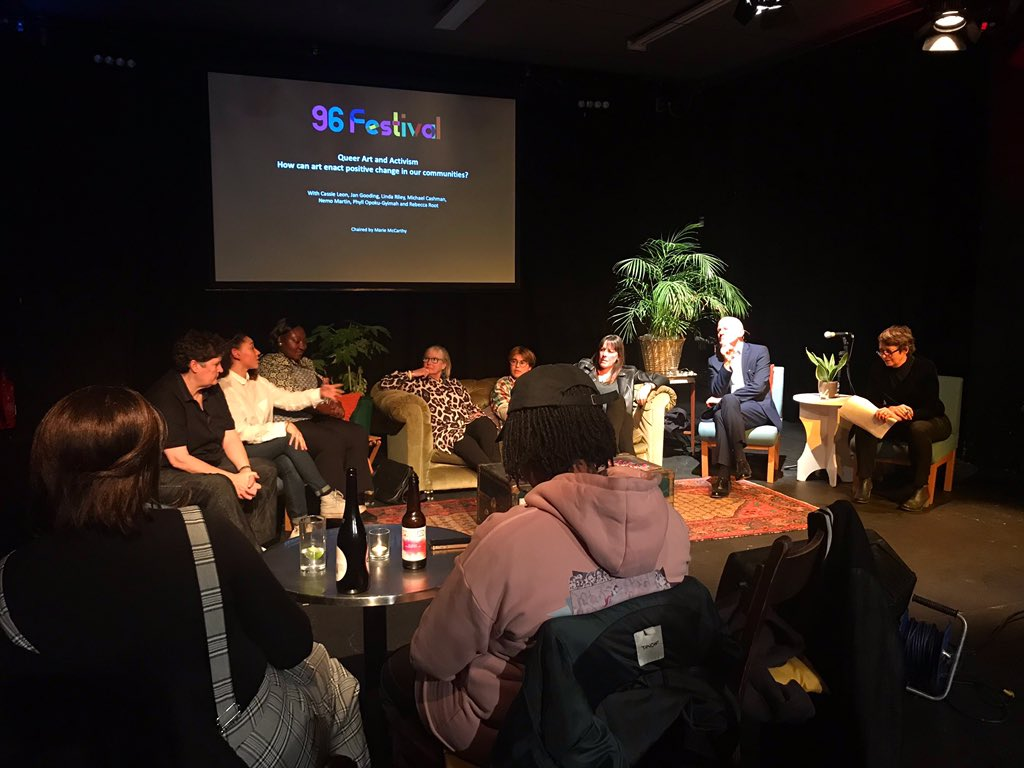 """Really interesting #conversation right now at the opening night of @omnibus_theatre's #96festival 🌈 The current panel discusses #queer arts and #activism: """"How can #art enact positive change in our communities?"""" 🎭 #96fest #claphamcommon #lgbtqi"""