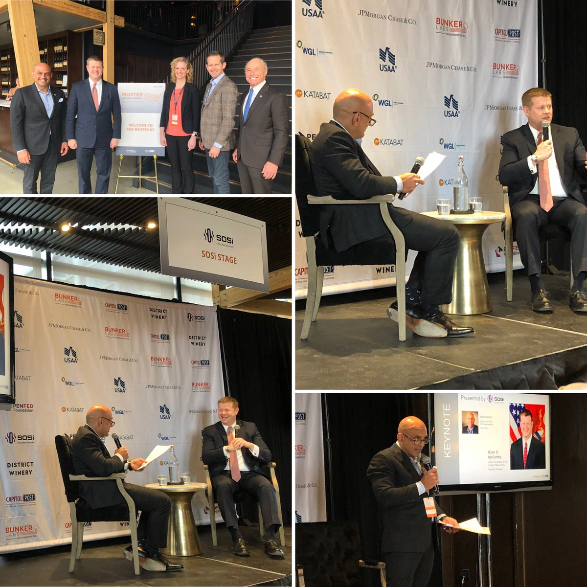 .@SOSiCEO hosted a fireside chat with @UnderSecArmy at @TheBunkerLabs and @CapitolPost's #MusterAcrossAmerica event in DC today. @SOSi_HQ is a proud supporter of Capitol Post which is a non-profit that teaches military veterans and spouses how to think and act like entrepreneurs.