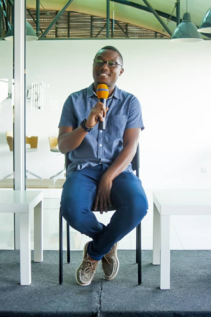 """#socialenterprise s are changing the world for the better. @ArtsImfura Like traditional businesses aim to make a profit but it's what we do with their profits that sets them apart – reinvesting them to create positive social change."" Herve said. #Rwanda @RDBrwanda #RwOT #ECFC"