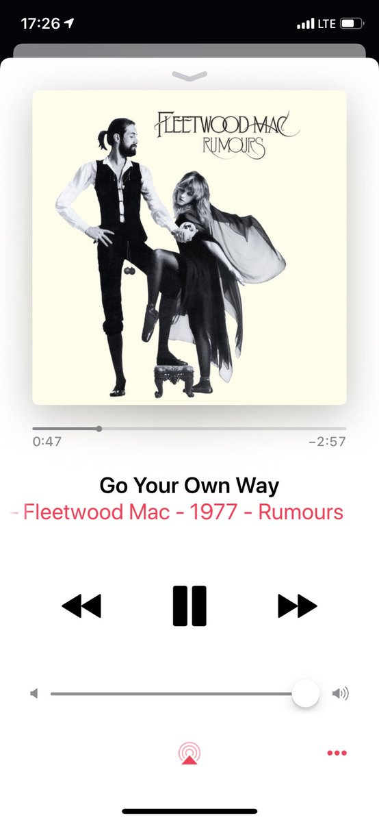 Jetzt. #FleetwoodMac - Go Your Own Way - #np