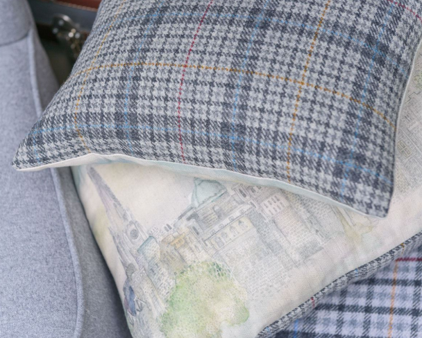 The contemporary design of this cushion is woven with colours that reflect the spectacular landscape and rich history of @edinburghcastle. It is the perfect addition to any home. #ShopHistory  https://t.co/ofl8ItoQ1r