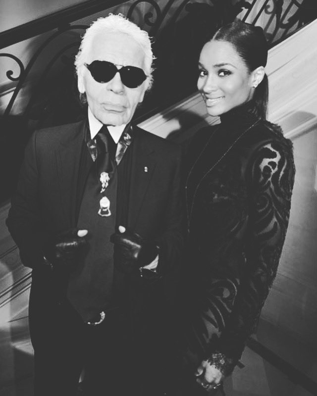 One of the coolest moments of my career was shooting my 1st high fashion shoot with you as the photographer. Every detail mattered to you. Thank you for the inspiration you've given us all. You will truly be missed. Rest In Peace Legend #KarlLagerfeld #Chanel ❤️