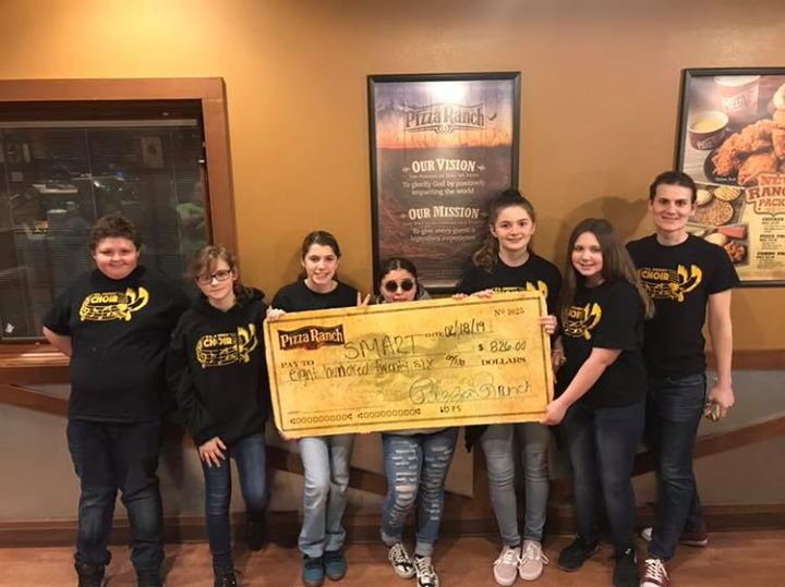 We are excited to share the success of F. L. Smart Choirs with a legendary Community Impact Fundraising Night!  Best wishes at your upcoming choir competition!   #MakeADifferenceMonday #BeLegendary #CommunityImpactNight #PizzaRanch