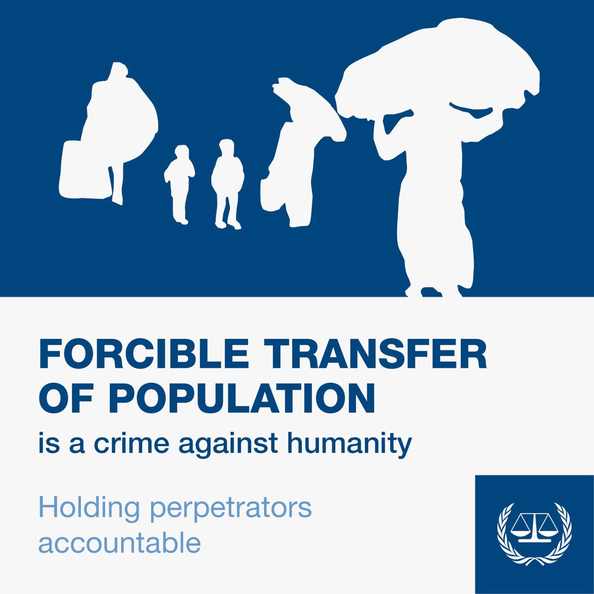 Forcible transfer of population is a crime against humanity under the #ICC #RomeStatute. The #ICC is part a global movement to end impunity for the most serious crimes of international concern. Find out more ➡https://www.icc-cpi.int/about/how-the-court-works… #morejustworld