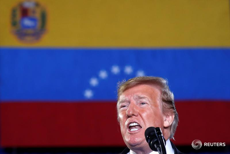 .@realDonaldTrump urges Venezuelan military to abandon @NicolasMaduro or 'lose everything' https://reut.rs/2tv9hFi