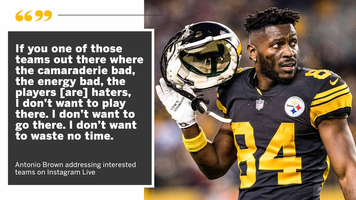 .@AB84 isn't holding back on what he's looking for in a new team.