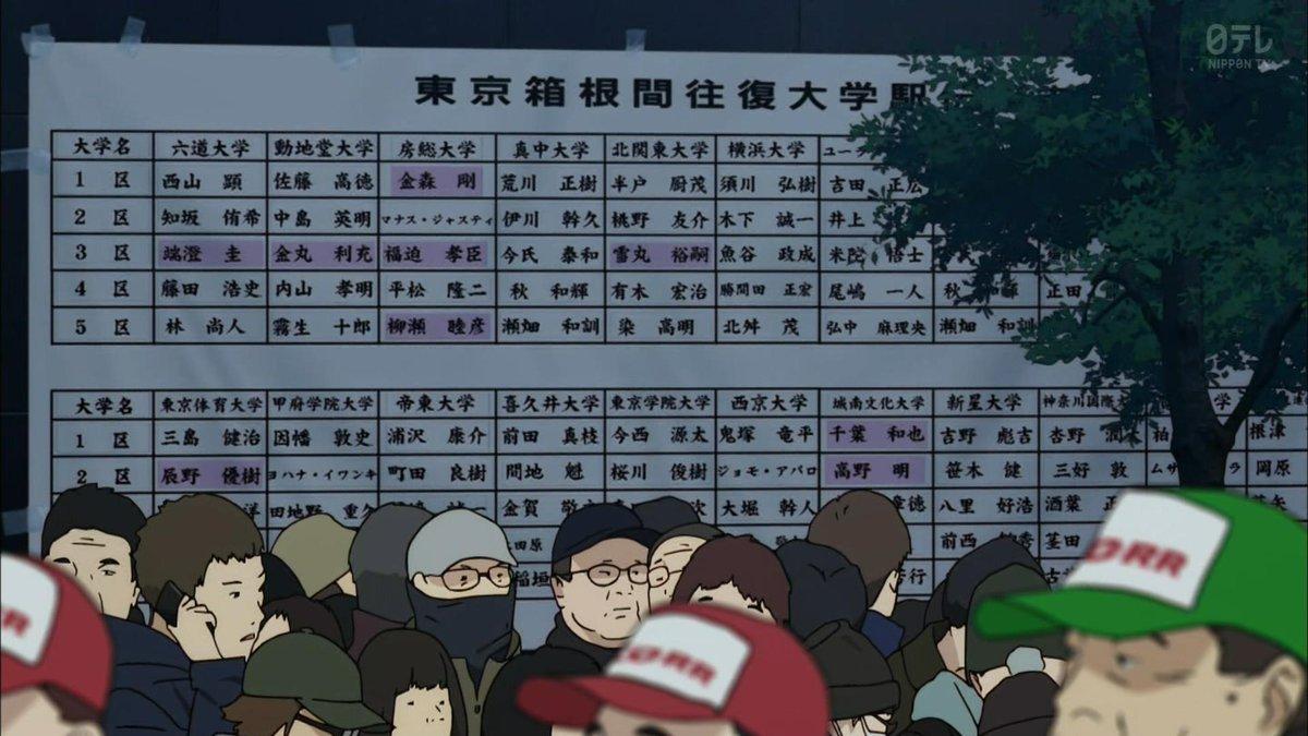 風が強く吹いている18話、箱根駅伝往路区間オーダー発表