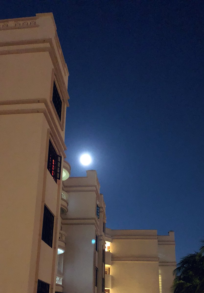 My gorgeous  #supermoon2019 over #Singapore tonight Feb 19 thank you so dazzlingly bright it's unbelievable, breathtaking 😍😍🤩🥰🥰❤️🌝🌹 Gnite all n Prince hope your moon was dazzling too 😘😘😊♥️♥️♥️👑💋💖 jaljayo dear Suk @AsiaPrince_JKS 😘😘😊