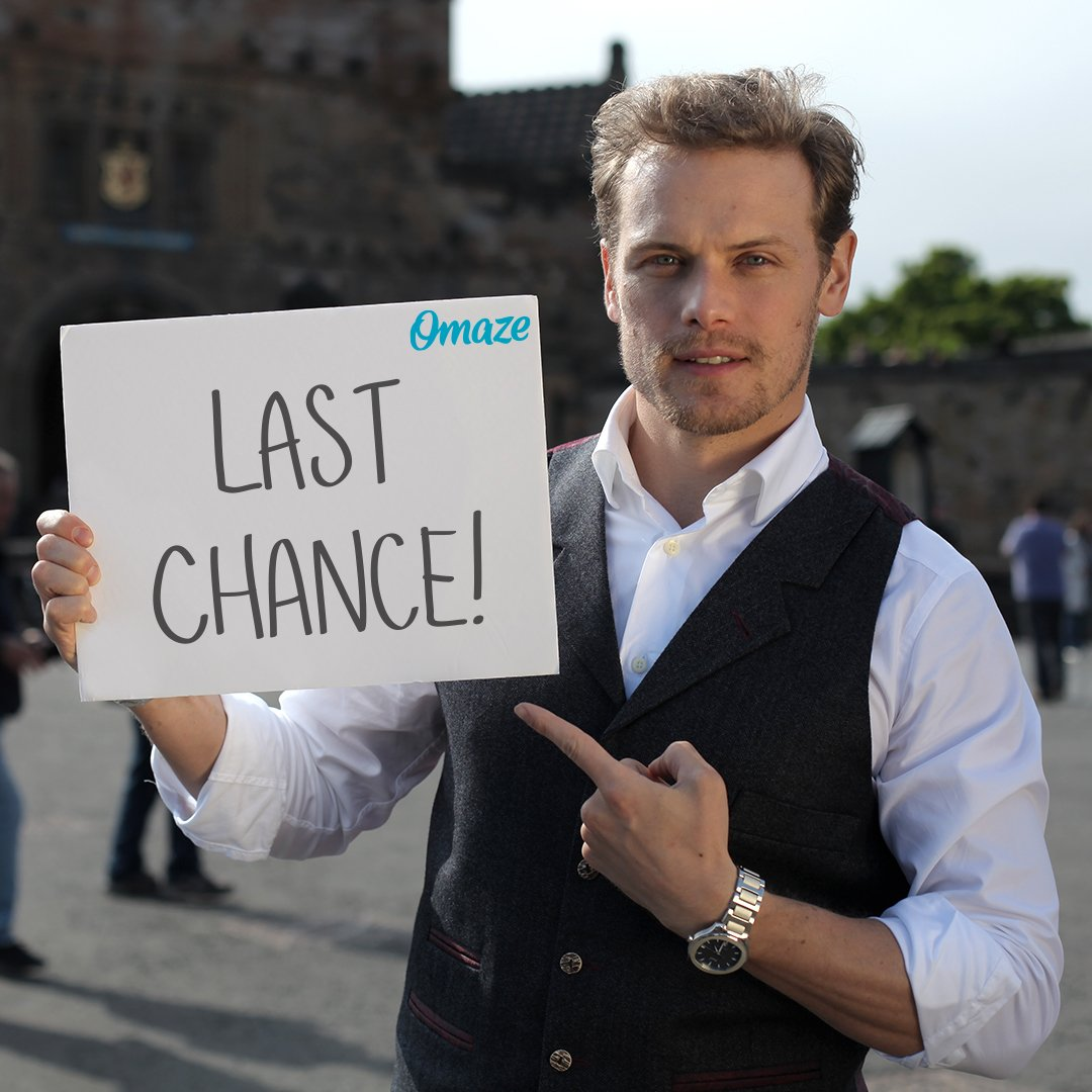 ⚠️ IMPORTANT: PLEASE READ ⚠️ You are NOT allowed to go back in time and enter to be @SamHeughan's date. #omaze   Don't miss your chance: http://bit.ly/2SPFJAC