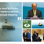 Image for the Tweet beginning: IMO Secretary-General urges all aboard