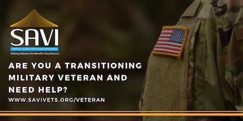 Are you a transitioning military #veteran and need help? SAVI provides a host of free transition services, along with experts in #coaching and #mentoring to assist you during your journey from #military to civilian life - check them out at http://www.savivets.org/veteran  @SaviVets