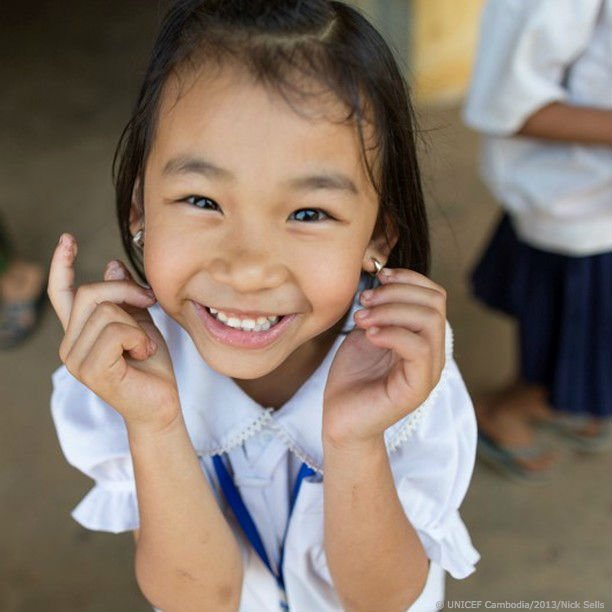 Fill in the blank! My wish #ForEveryChild is ___________.   Here's some inspiration from this little one in Cambodia.