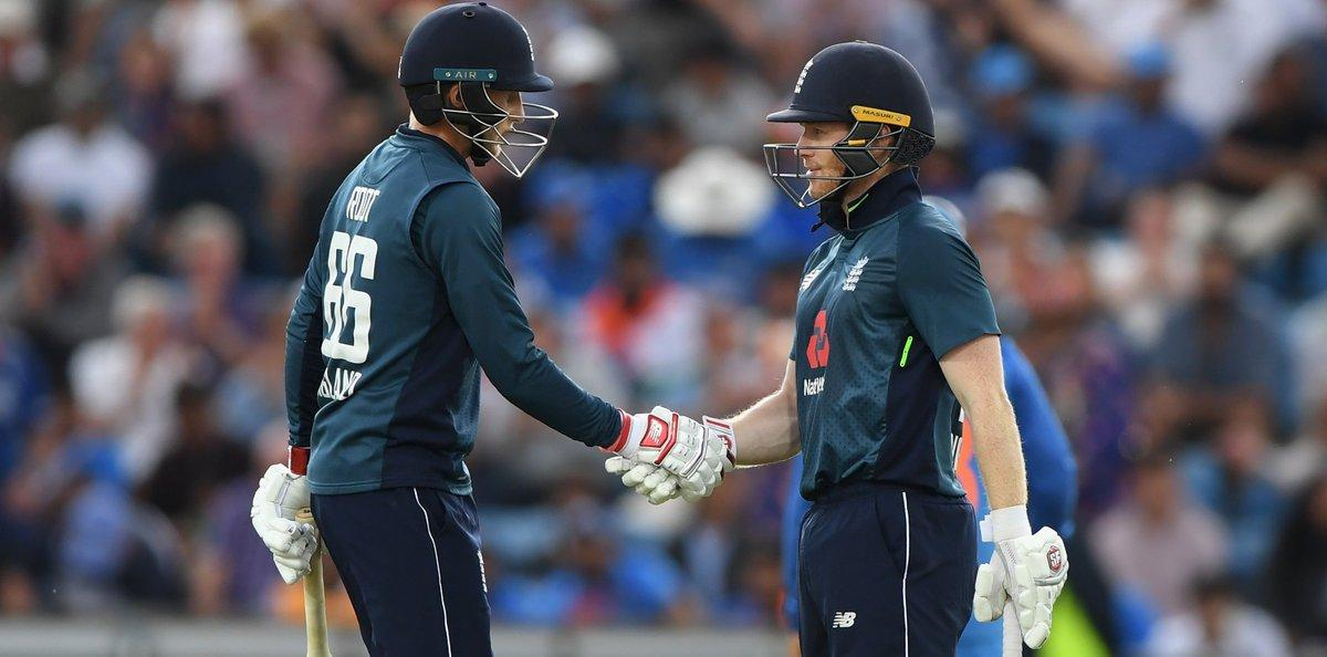🏏 England's XI for the 1st ODI vs West Indies:  Roy, Bairstow, Root, Morgan, Stokes, Buttler, Ali, Woakes, Rashid, Plunkett, Wood.