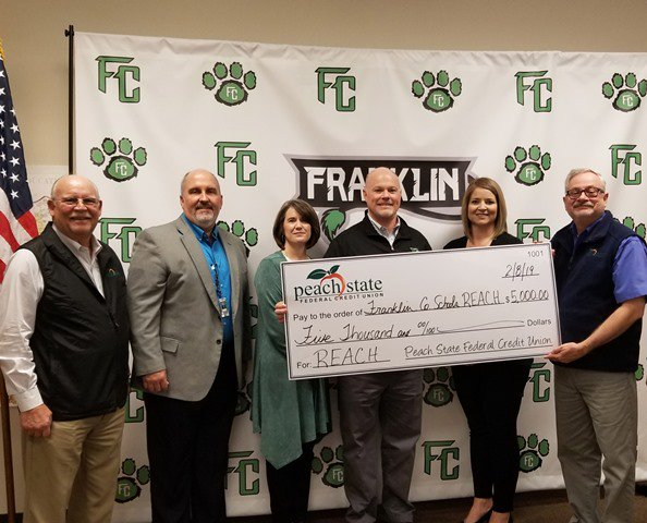 Supporting their local schools with a $5,000 donation from @PeachStateFCU! http://www.cusocialgood.com/stories/8154/peach-state-fcu-donates-5-000-to-franklin-county-schools.aspx…