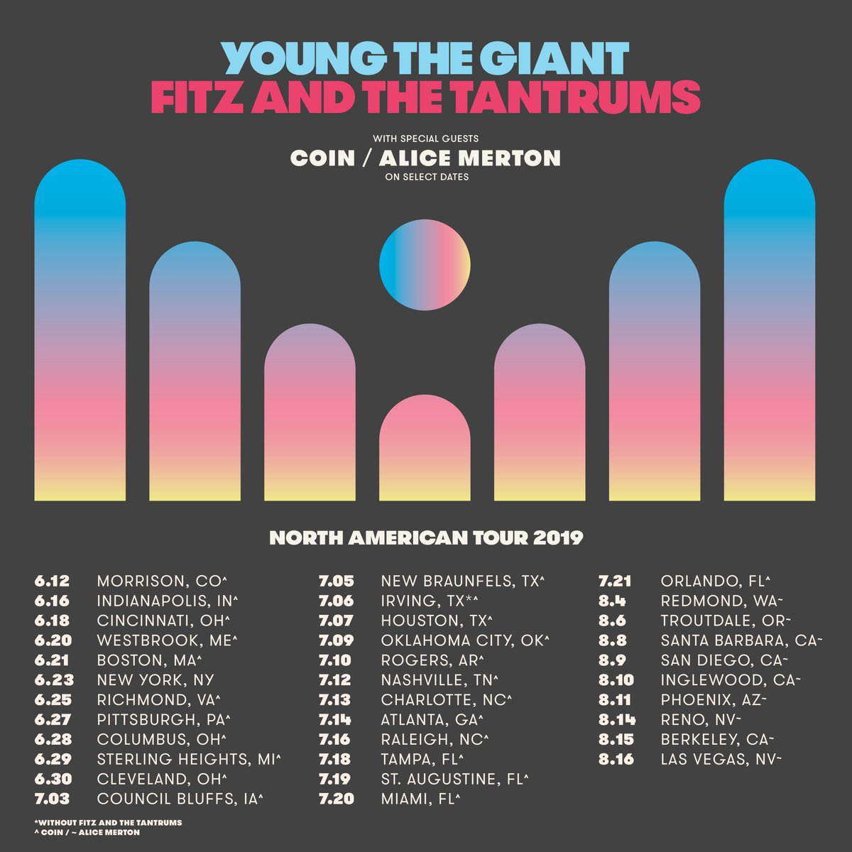 Young The Giant Announces Co-Headlining Tour With Fitz And The Tantrums