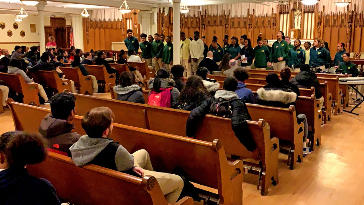 test Twitter Media - Students led a school-wide #BlackHistoryMonth Prayer Service at @BostonCathedral on Friday to start their winter break. Greg Allen directed the student choir which alternated uplifting and inspirational music with students proclaiming selections from Sacred Scripture. https://t.co/RgfvEhpGJg