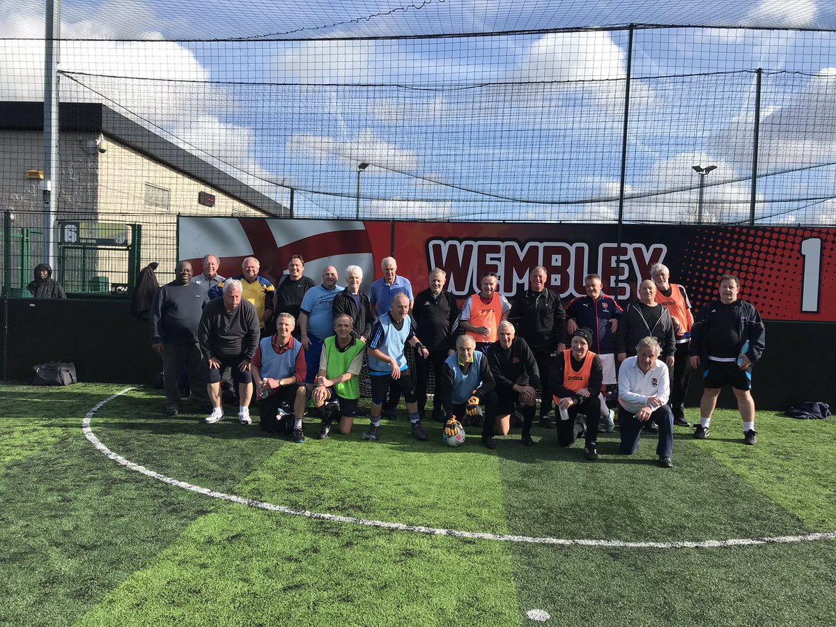 A sunny warm day in #Greenwich @goals_eltham for #WalkingFootball such a fun session with a great bunch of guys. Come along every Tuesday from 10.30am-11.30am and join the fun. @CAFCTrust<br>http://pic.twitter.com/kJ1V83duQP