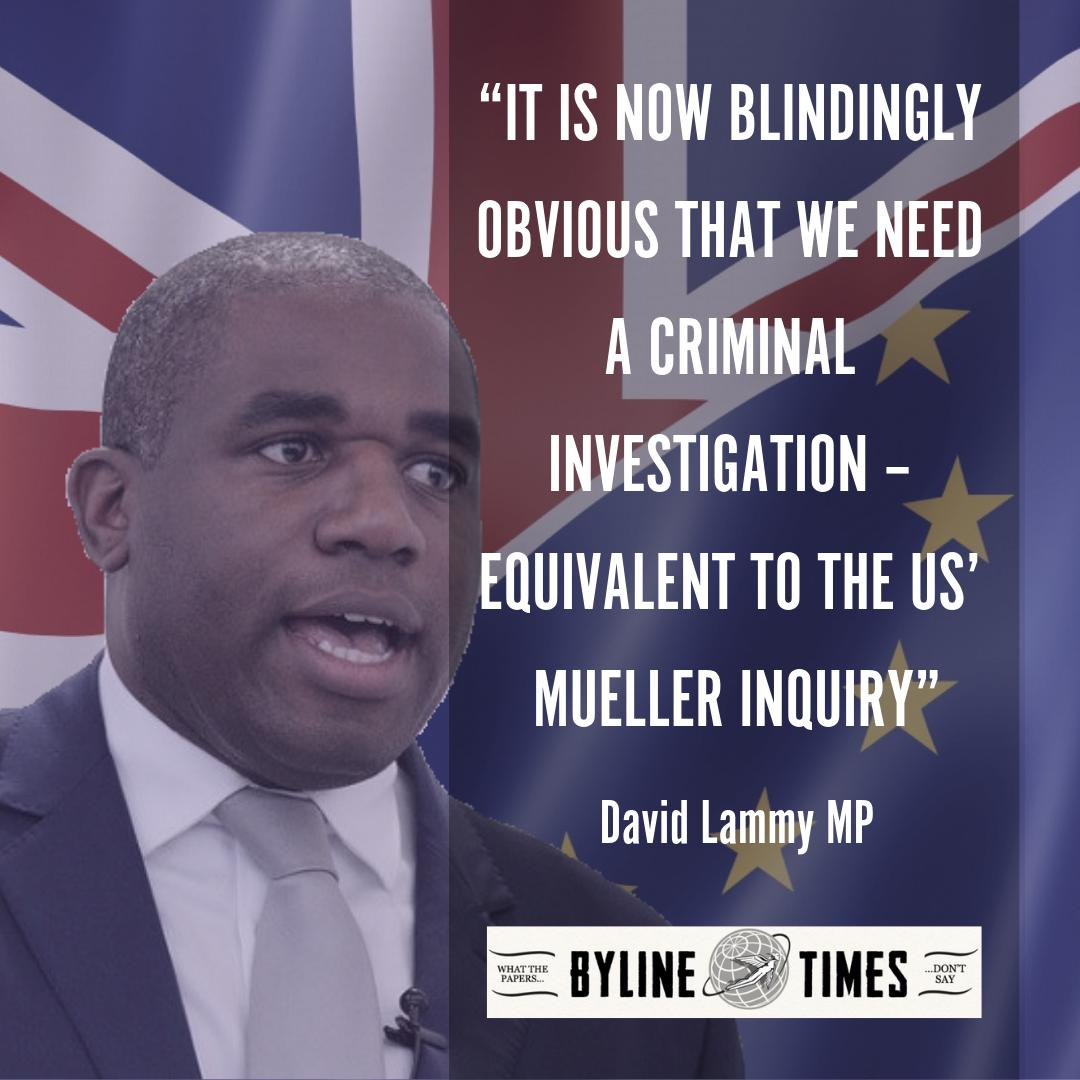 EXCLUSIVE: Senior Labour MPs Accuse Met Police of 'Cover-Up' and 'Unacceptable Delays' in Investigating Brexit Crimes #Brexit #Mueller #BrexitChaos #BrexitShambles   Read more here: http://bit.ly/2X8Kpky