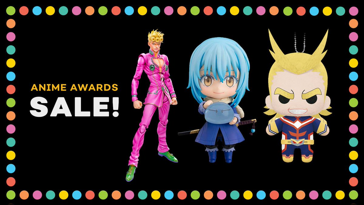 We're celebrating the winners of the #AnimeAwards with a SALE! Get up to 20% off on winners items! Congrats, everyone!    https:// got.cr/AA-sale    <br>http://pic.twitter.com/zGWwidRuSg