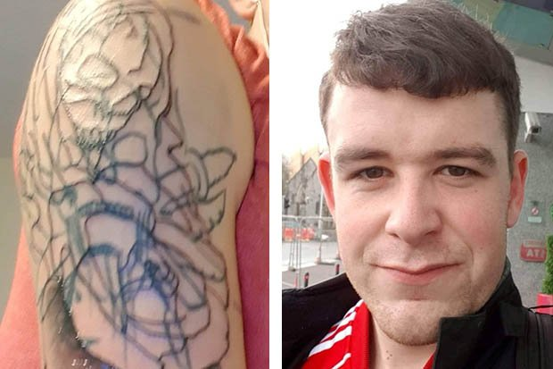 Bloke pays £80 for 'piece of s***' tattoo that looks like it was done by a CHILD https://t.co/BFLzkomcbU