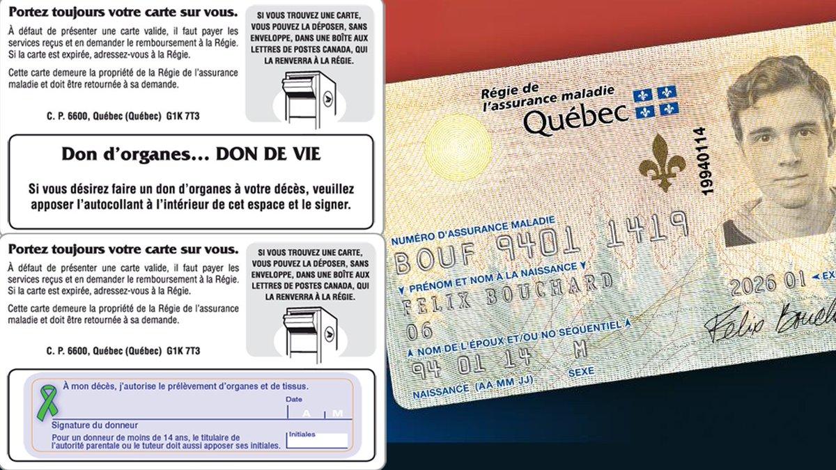 Carte Assurance Maladie Naissance.Tva Nouvelles On Twitter 92 Des Quebecois Favorables Au Don D