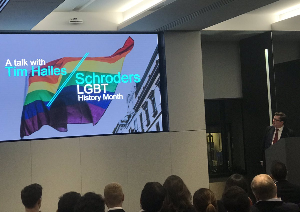 Alderman @HailesTim is speaking tonight at @Schroders for the #SchOUT #LGBT network's #LGBTHM19 event on his personal experience of being gay in the @cityoflondon. 🏳️🌈 #Diversity https://t.co/BRCUNlOk0R