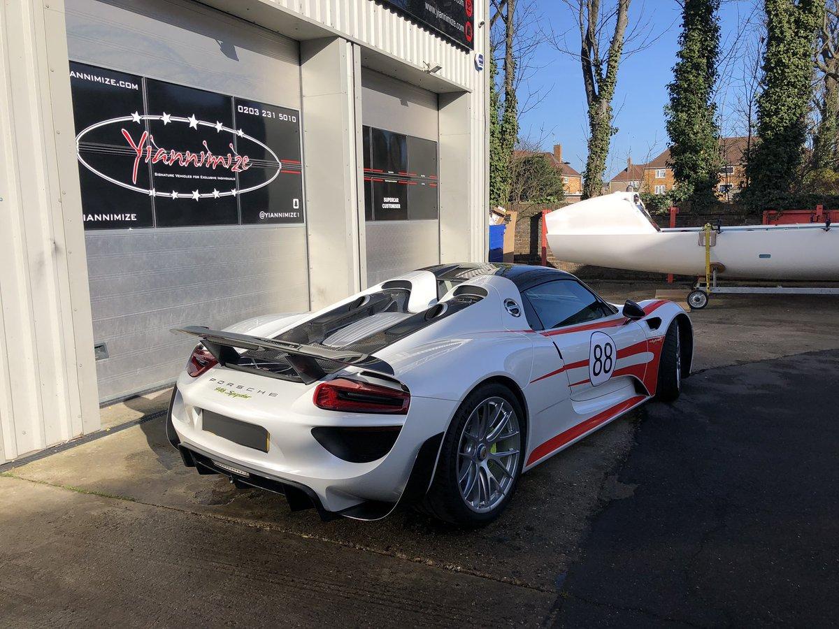 Yianni Charalambous On Twitter Porsche 918 Weissach Wrap