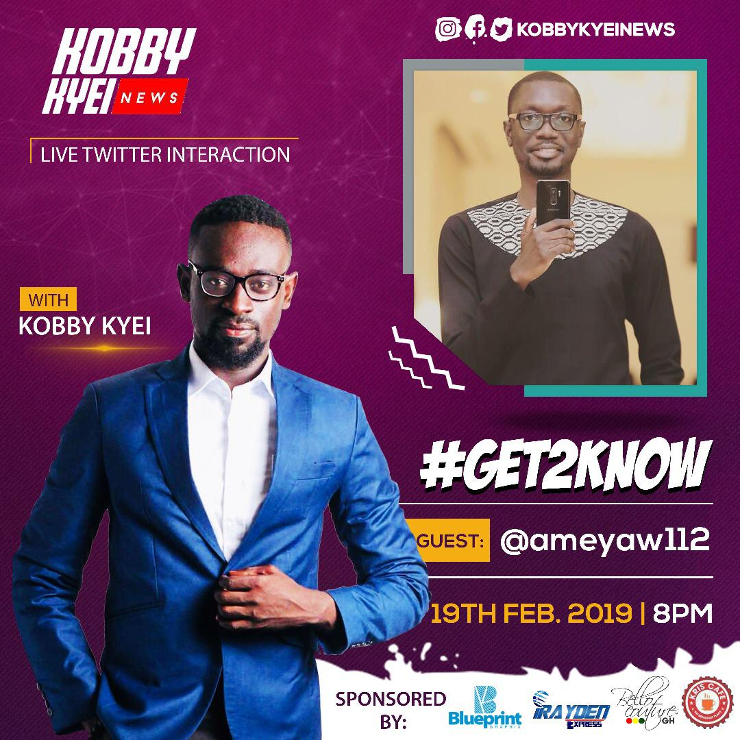 Let's have fun 8pm with @kobbykyeiNews