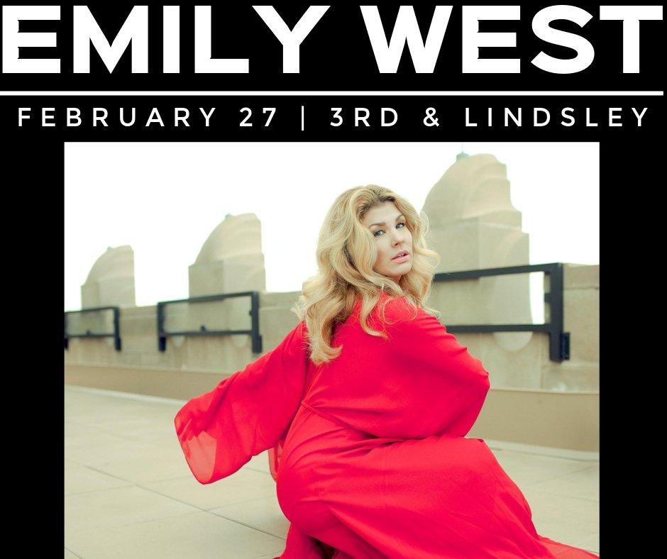 February 27th @emilywestmusic  & friends! w/ @samcstephens  & @jessicamaros   Tickets:  https://bit.ly/2Eh54v6