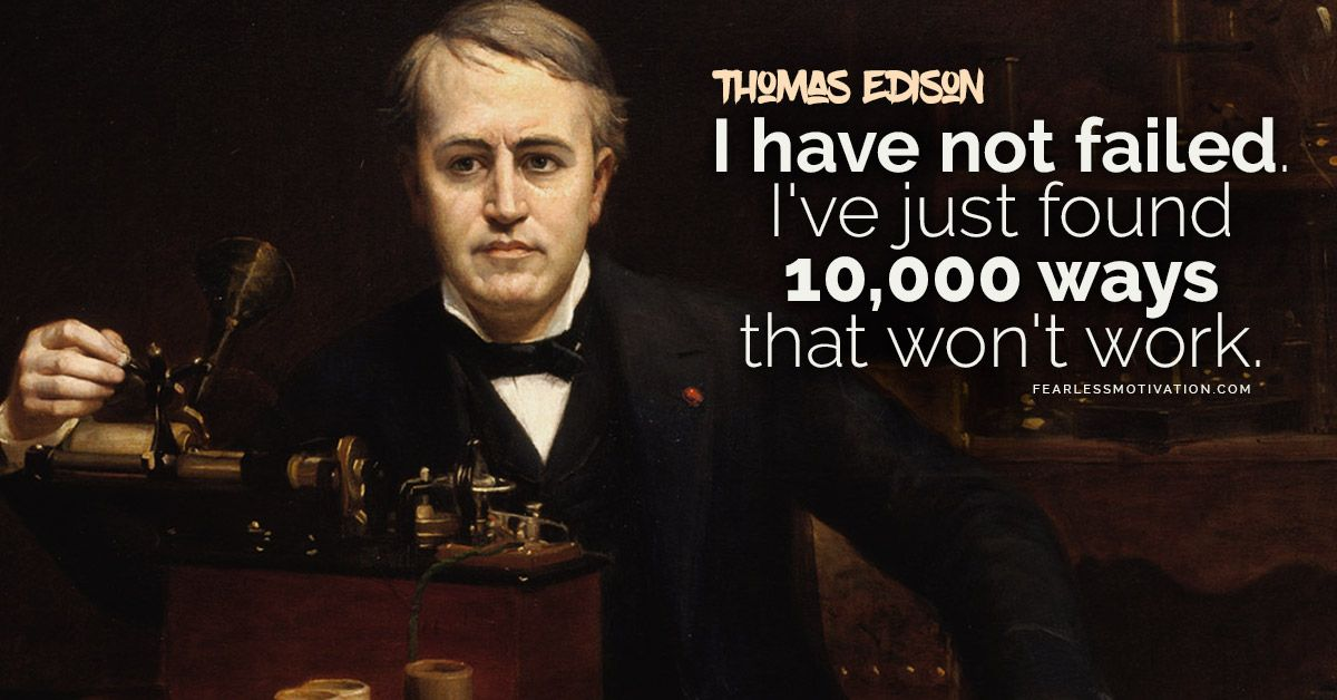 Thomas Edison Quotes – Failure IS THE ROAD to Success! https://buff.ly/2zaILqv