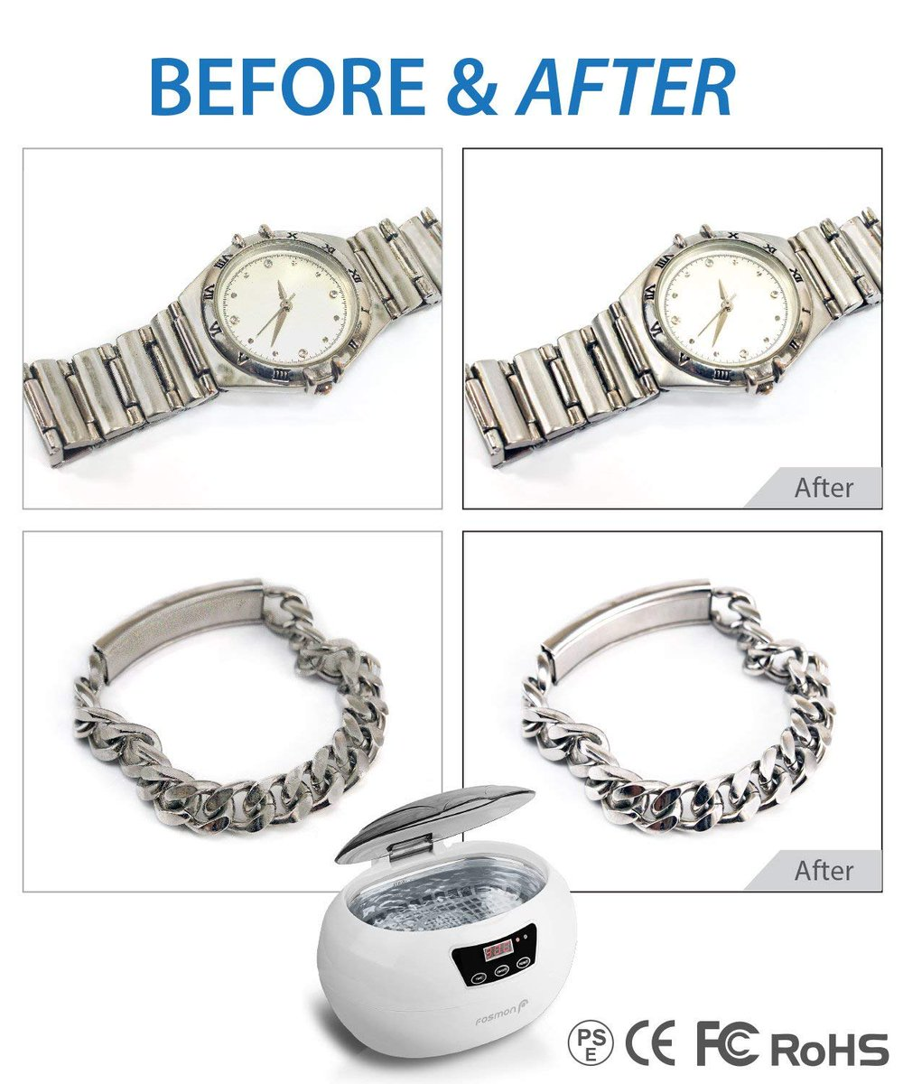 Using only water, the ultrasonic cleaner generates 42,000 Hz of ultrasonic waves that gently remove dirt and grime in short amount of time without using harsh chemicals. https://t.co/nixinWYuh6  #jewelry #jewelrycleaner #watch #watches #fosmon #sfplanet https://t.co/1cQ5OXIezF