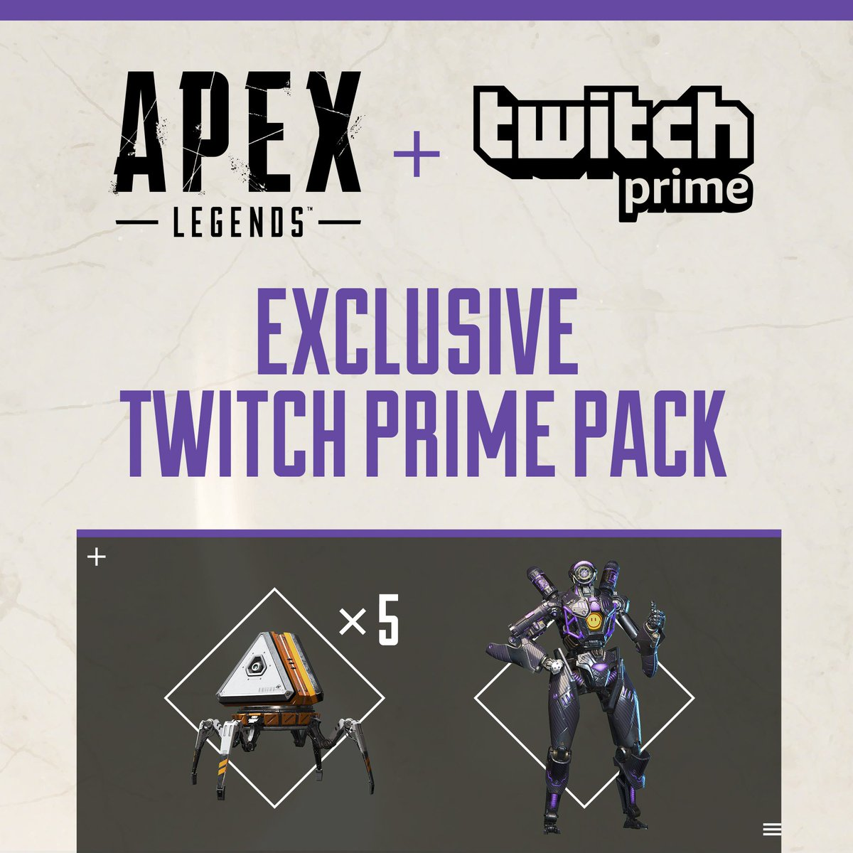 Apex Legends is coming to Twitch Prime: link your account now and you'll unlock five Apex Packs and the legendary Omega Point Pathfinder skin: http://x.ea.com/56973