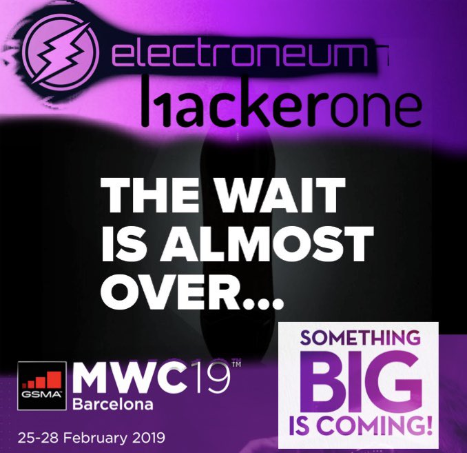 #thewaitisalmostover @electroneum #MWC19 #somethingbigiscoming #massadoption #cryptocurrency #bankingtheunbanked #financialinclusion #kyc #AML our time is now. #electroneum #hackerone secure<br>http://pic.twitter.com/MGJzJu3sll
