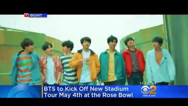 BTS IS COMING BACK! The K-pop sensation is coming back to Southern California to kick off a new world tour at the Rose Bowl. @USBTSARMY @BTS_twt #BTS #BTSARMY https://cbsloc.al/2TUtVKI