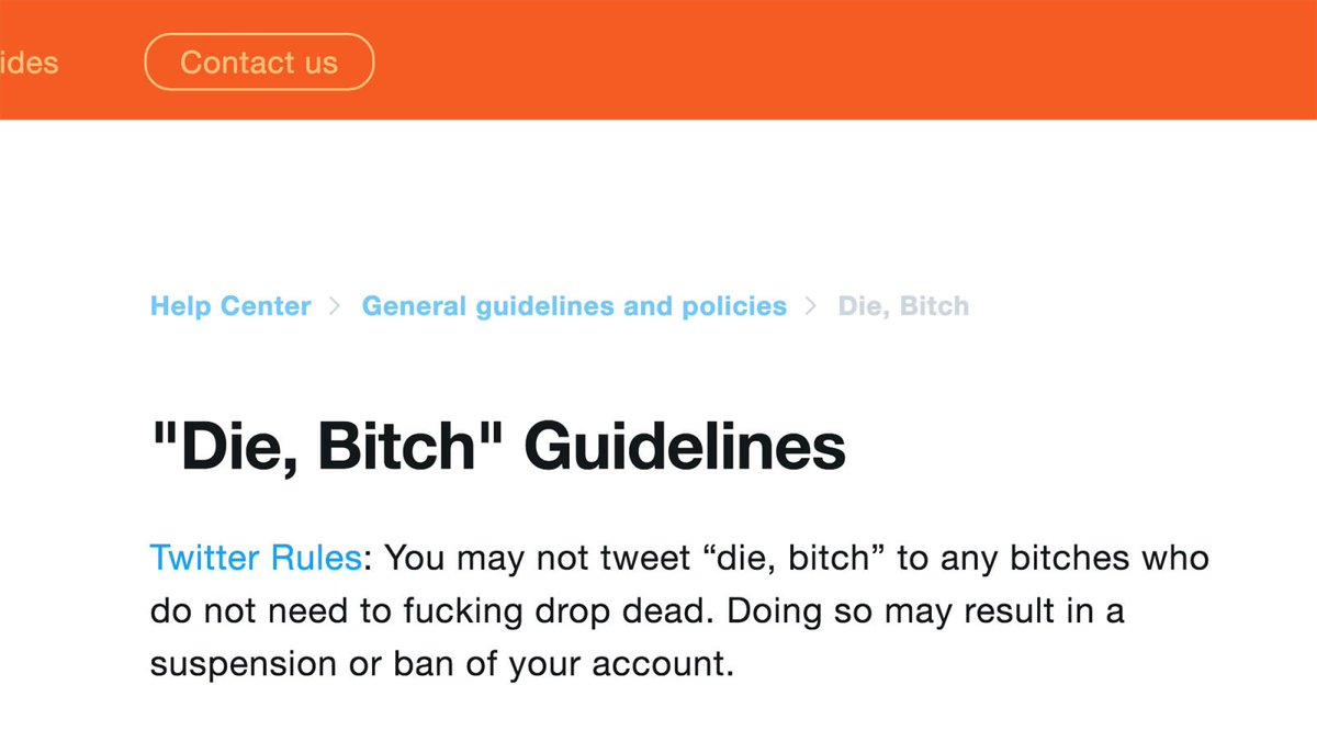 Fighting Harassment: Twitter Will Now Only Allow Users To Tweet, 'Die, Bitch' To Bitches Who Should Die http://clckhl.co/I1I6DVS
