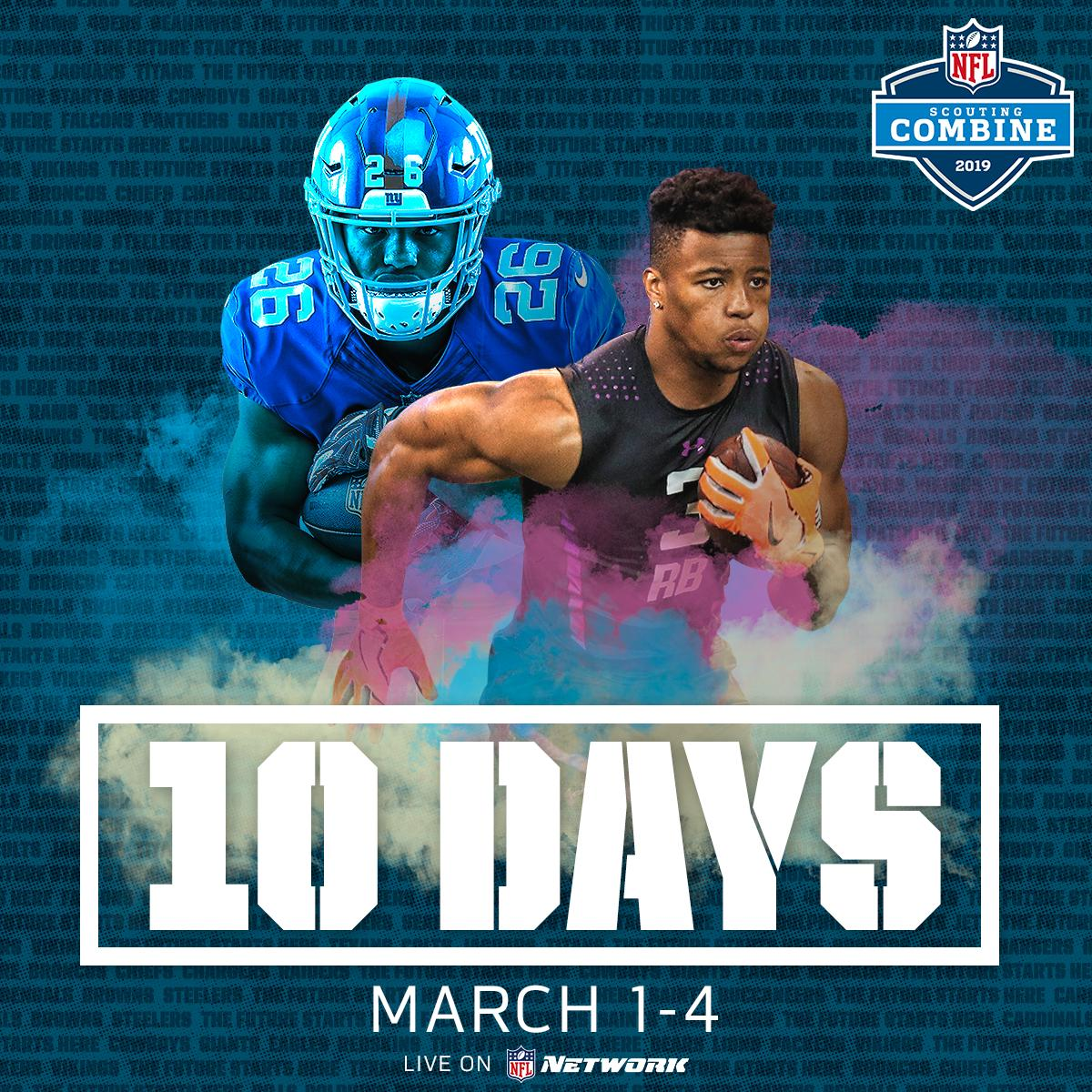 The 2019 #NFLCombine starts next week on @nflnetwork! <br>http://pic.twitter.com/Bj46ZZ1jTn