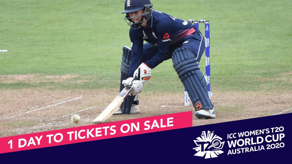 Get in position! Tickets for the @ICC Women's #T20WorldCup will go on sale tomorrow from midday (AEDT).   🎟 http://www.t20worldcup.com