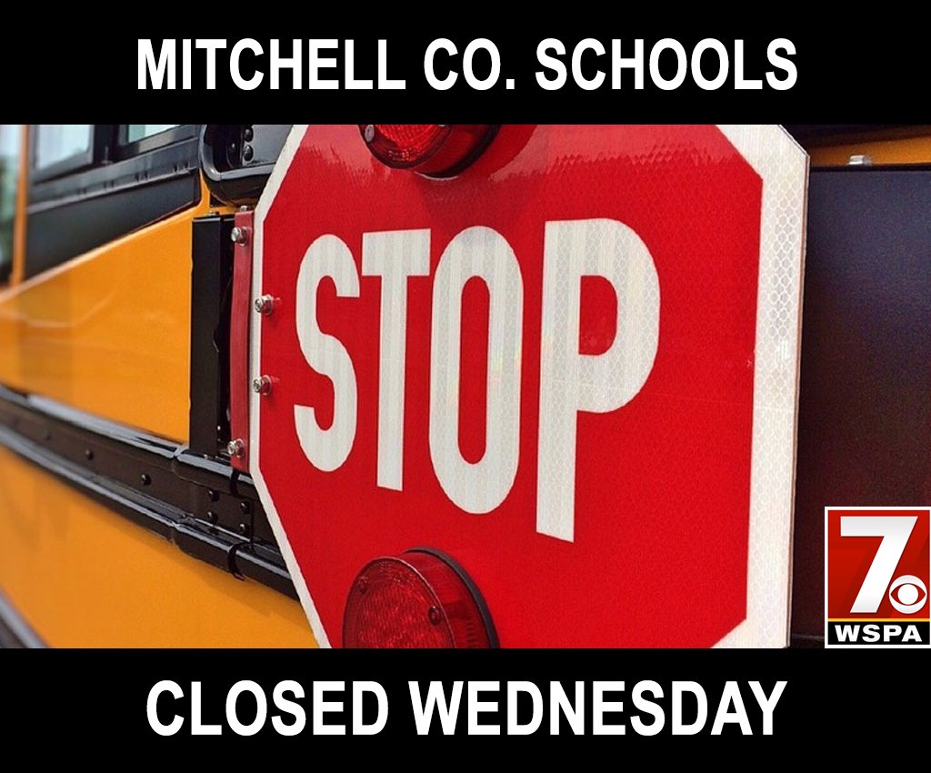 CLOSINGS & DELAYS: Mitchell Co. Schools will be closed Wednesday. https://t.co/Y0ZflJFPhW