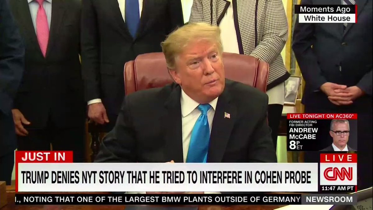 Trump cries 'fake news' in response to the NYT's report about his call to Whitaker https://t.co/xk6h73rZfM