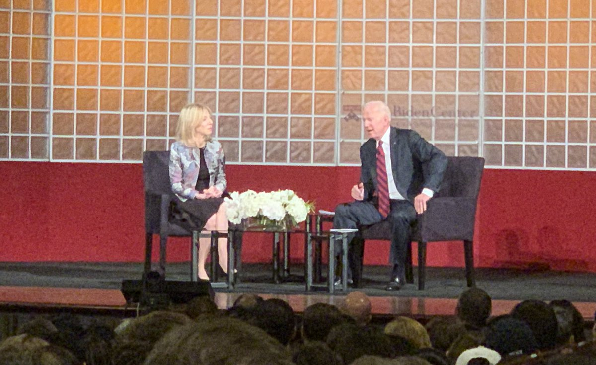 Former Vice President Joe Biden: The vast majority of middle class people can't go a month without a paycheck...there's no excuse for this. – at Irvine Auditorium