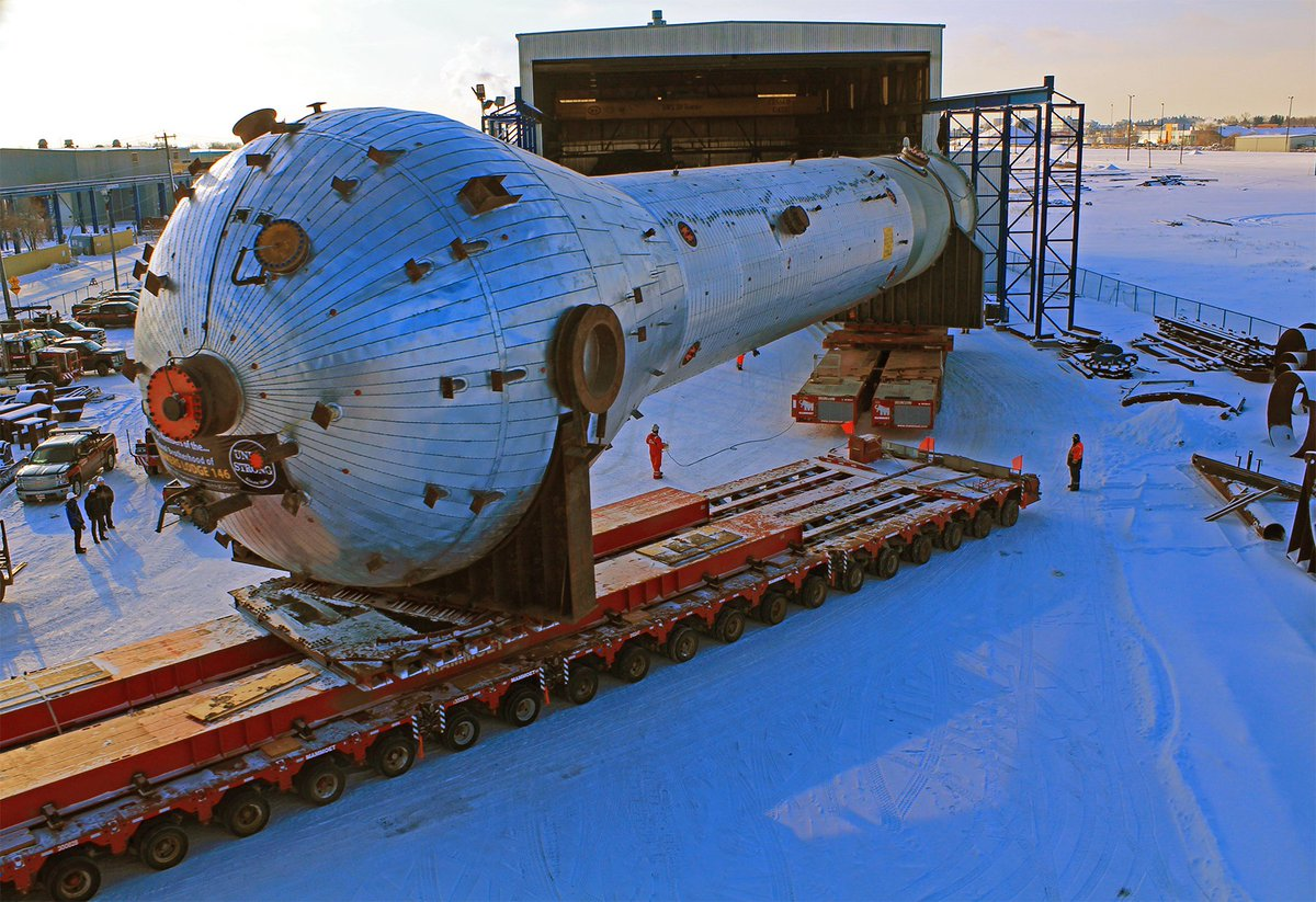 Another #MegaMove is commencing tonight. Our 725,000 kg Polypropylene (PP) Reactor will make its way from Cessco Fabrication & Engineering to the #HeartlandComplex site. For more info please visit http://bit.ly/IPLmove #HeavyTransport #Petrochemical